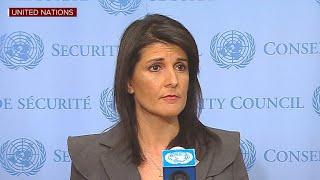 Nikki Haley addresses Iran protests, North Korea at U.N.