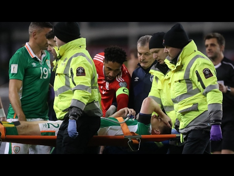 Managers react to Séamus Coleman leg break during World Cup qualifier –video