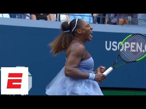 Xxx Mp4 2018 US Open Highlights Serena Williams Needs Third Set But Advances To Quarterfinals ESPN 3gp Sex