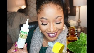 I Gave Myself A Bald Spot! I used Rice Water Products & Mint Oil