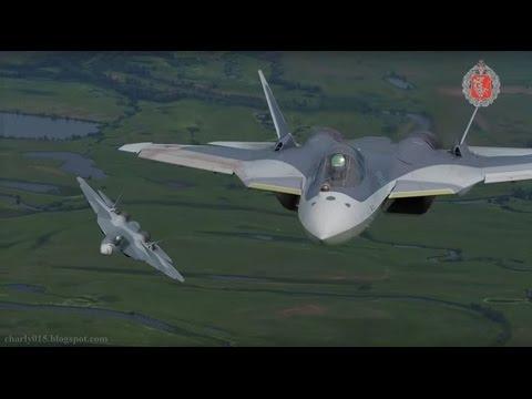 watch Superioridad Aérea con los Cazas Furtivos PAK FA T-50 1/ Su T-50 3 y Su T-50R5