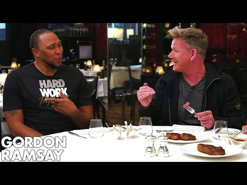 Gordon Ramsay Judges Steaks Cooked By NBA Legends Shawn Marion & Caron Butler Raising the Steaks