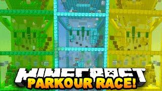 Minecraft 1v1v1 DIAMOND, EMERALD, GOLD PARKOUR RACE! w/ PrestonPlayz, Vikkstar123 & Kenny