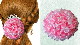 Download DIY for Girls : How to Make Beautiful Satin Ribbon Flower Accessories| Kanzashi Hair Accessories 3Gp Mp4