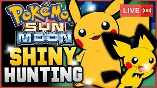 Pokémon Sun & Moon LIVE Shiny Hunting! Hunting For Shiny Pichu And Pikachu! w/ HDvee