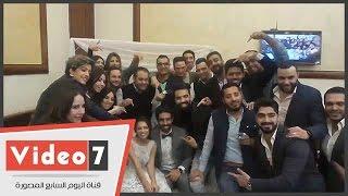بالفيديو.. عقد قران كارمن سليمان ومصطفى جاد بحضور ساندى وأحمد جمال