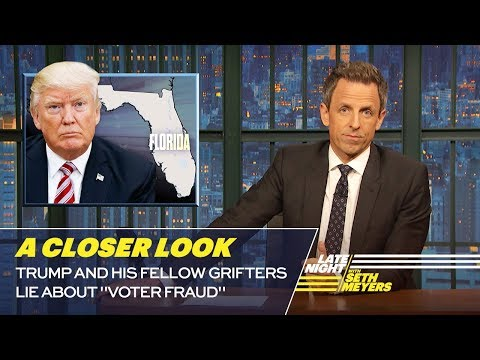Trump and His Fellow Grifters Lie About Voter Fraud A Closer Look