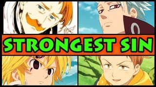 WHO IS THE STRONGEST SIN? (Seven Deadly Sins / Nanatsu no Taizai All Sins Ranked by Power Season 2)