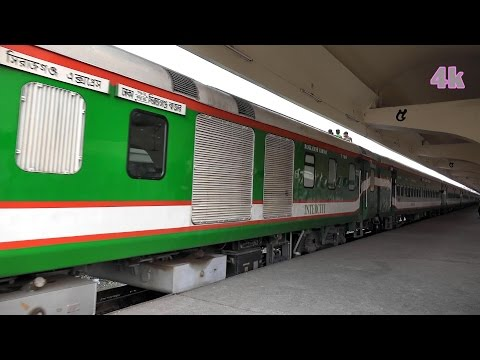 Intercity Sirajganj Express Train of Bangladesh Railway in 4K