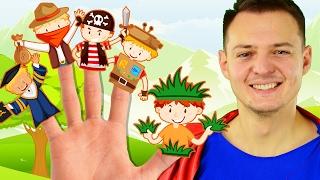 Learn Colors for Kids Nursery Rhymes Superhero Finger Family