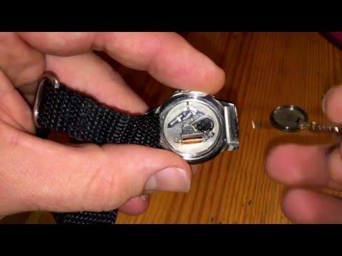 How to change wrist watch battery with watch case opener tool KAP Kahuna woman surf watch DIY