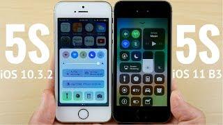 iPhone 5S iOS 10.3.2 vs iPhone 5S iOS 11 Beta 3!