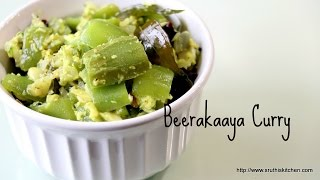 Beerakaaya Curry   Ridge gourd with Milk & Indian Spices - Five Spice Cooking