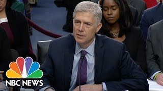 SCOTUS Nominee Neil Gorsuch Pressed About Legality Of President Trump's Travel Ban | NBC News