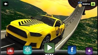 Impossible Taxi Driving Simulator Tracks / Driving Stunt Taxi Car / Android Gameplay Video