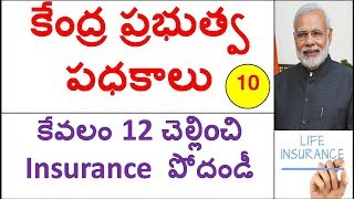 Central Govt Schemes 2017 In Telugu Part 10  || PMSBY || PMJJBY || govt insurance Schemes