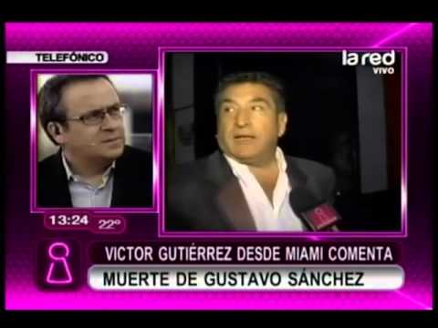 Víctor Gutiérrez comenta la muerte de Gustavo Sánchez