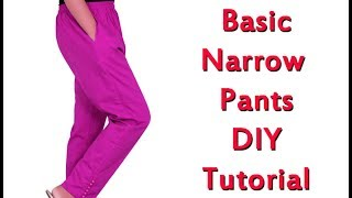 Narrow pants/pencil pant cutting and stitching in malayalam Tutorial, part 1