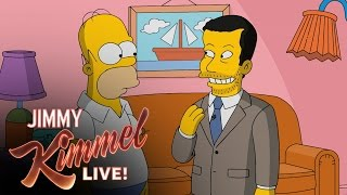 Homer Simpson Gives Jimmy Kimmel a Tour of Springfield