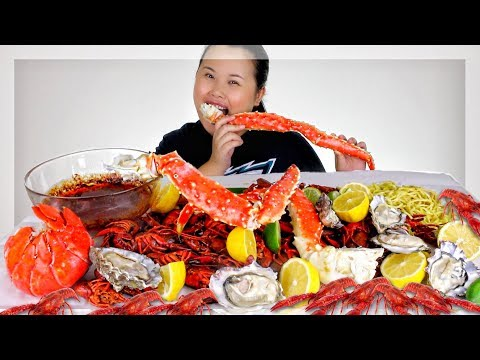 Xxx Mp4 KING CRAB LEGS GIANT LOBSTER TAIL GIANT OYSTERS SEAFOOD BOIL MUKBANG 먹방 EATING SHOW 3gp Sex