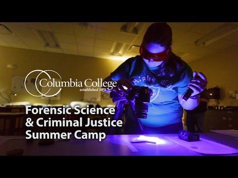 Forensic Science and Criminal Justice Camp at Columbia College
