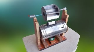 How to Make Steam Power Generator -  cool science project - A Different Way
