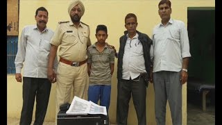 Police Caught A Boy Making Fake Currency Note of India at Fathehabad Haryana