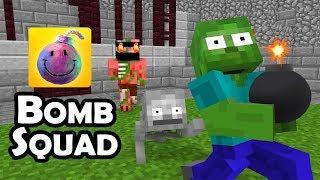 Monster School : BOMBSQUAD CHALLENGE - Minecraft Animation