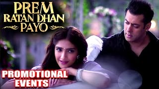 Prem Ratan Dhan Payo Movie Promotional Events | Salman Khan, Sonam Kapoor |