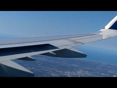 Wing View Landing Tampa Airbus A321 N302DN Delta