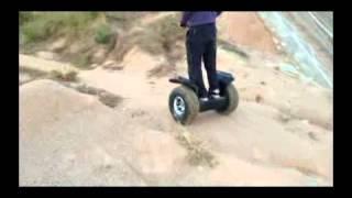 Off Road Segway EcoRider Escooter Riding Show