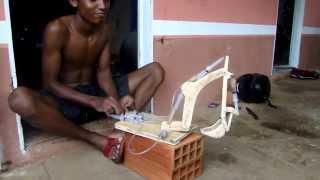 Boy Makes DIY Excavator with Syringe Hydraulics
