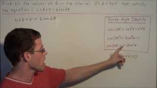 Solving Trigonometric Equations with the Quadratic Formula - Trigonometry