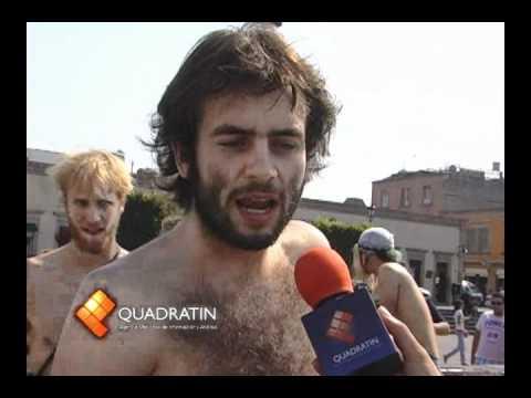 Arranca caravana ciclista al desnudo