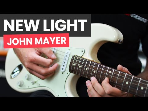 🎸New Light John Mayer Guitar Lesson - How To Play New Light by John Mayer