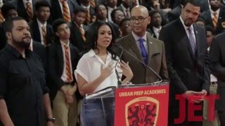 Barbershop 3 Cast at Urban Prep Academy JET