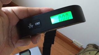 Portable travel digital luggage scale (up to 110lbs) by Luggage Lifesaver