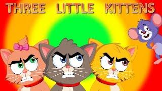 Three Little Kittens | Kids Songs with Lyrics | Lost Their Mittens | FlickBox Nursery Rhyme