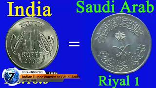 Saudi arabian ek riyal equal to Indian rupee