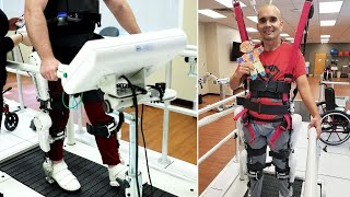 Spinal Injury Patients Use Robotic System to Walk Again