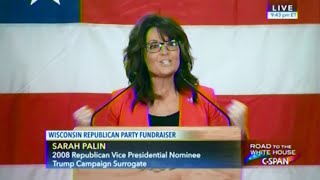 • Sarah Palin advocates for Donald Trump in Wisconsin • 4/01/16 •