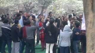 SLOGANS OF JNU, Students of JNU shouting slogans for social justice,good governance.