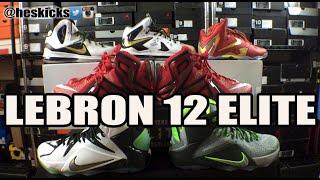 Detailed Review: Nike Lebron 12 (XII) Elite Comparison & On Feet