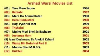 Arshad Warsi Movies List