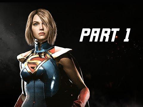 INJUSTICE 2 Walkthrough Part 1 - Chapter 1 GODFALL - Kara & Batman (Story Mode Let's Play)