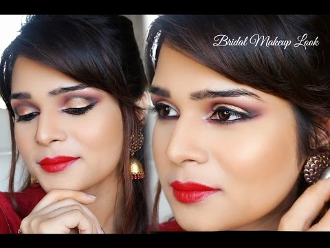 Indian Bridal Makeup Tutorial - Red & Gold