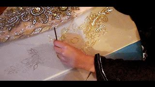 embroidery stitches by hand designs tutorial how to make party wear dress