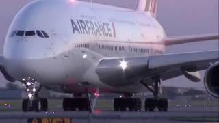 شاهد إقلاع أكبر طائرة ركاب _(The World's Largest Passenger Plane Taking Off( airbus a380