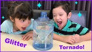 Episode 10: How to Make a Glitter Tornado - Science Experiments for Kids
