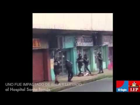 Balacera durante robo en Avenida B, Ciudad de Panamá